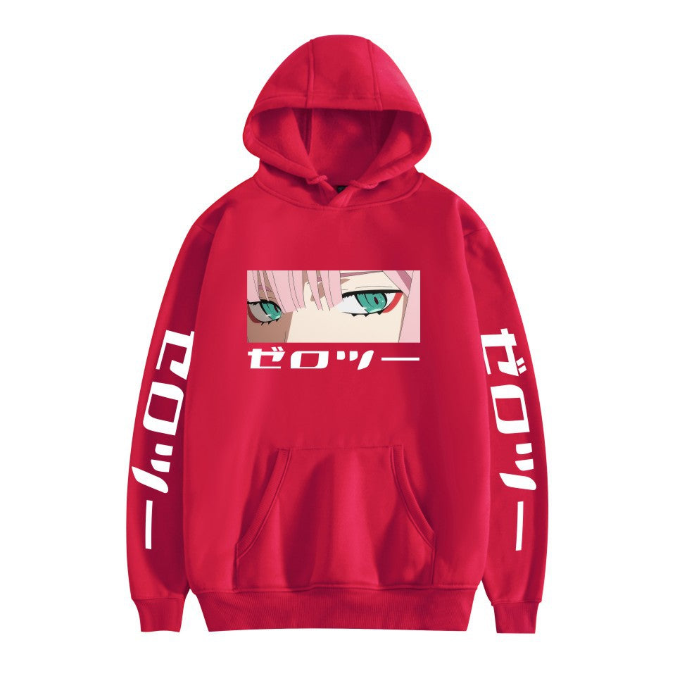 Zero Two Darling In The Franxx Hoodie Long Sleeve Sweatshirt