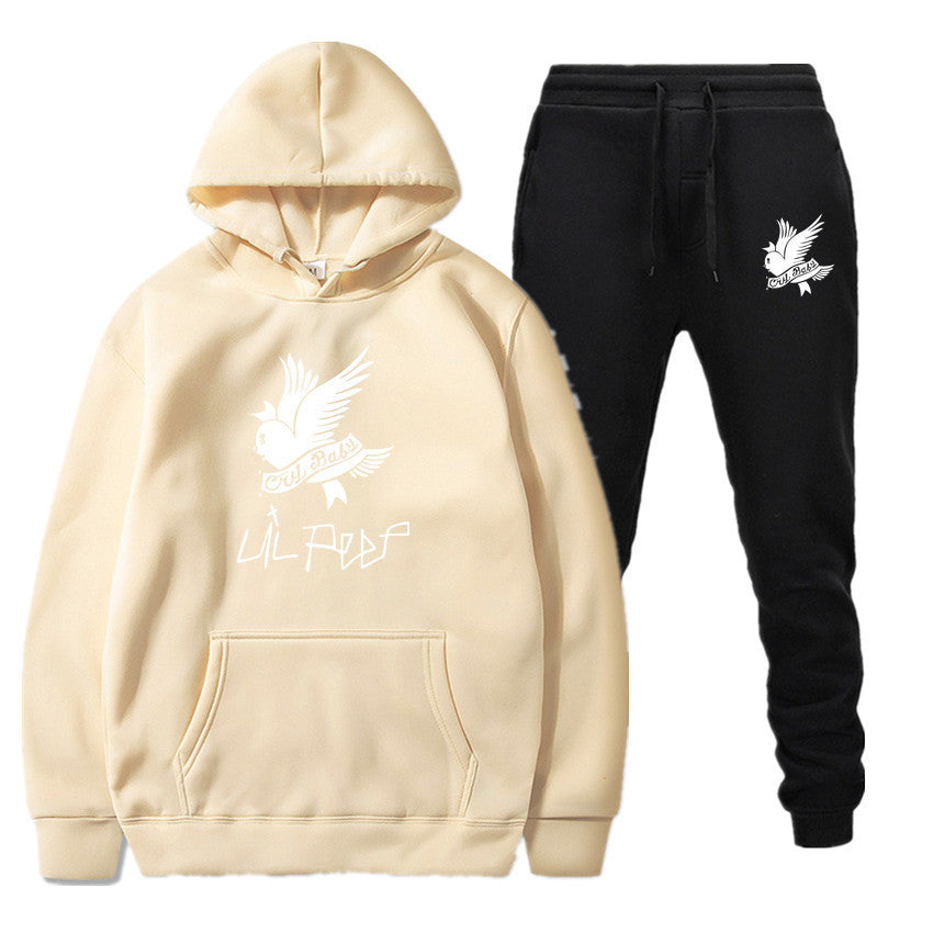 Lil Peep R.I.P Cry Baby Printed Tracksuit Casual Sportwear Sweatsuit Hoodie+Pant