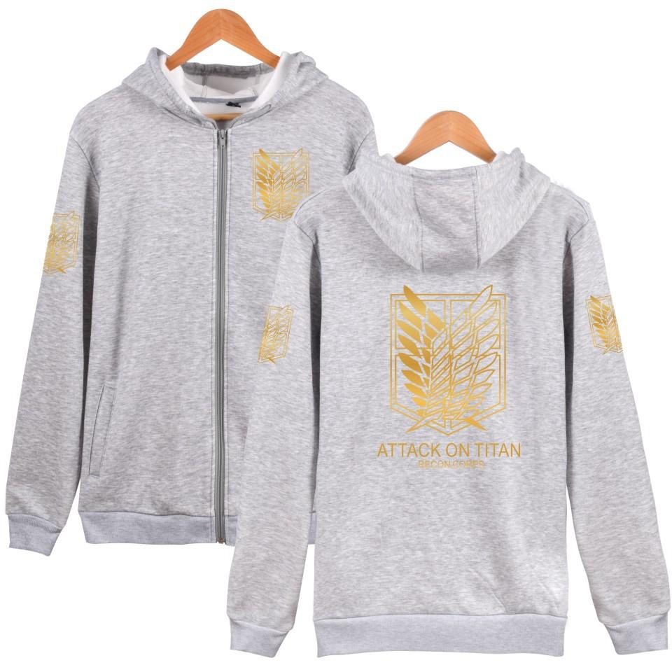 Ripple Junction Attack on Titan Survey Corps Adult Zip Hoodie