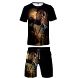 YoungBoy Never Broke Again T shirts Beach shorts Two Piece Set