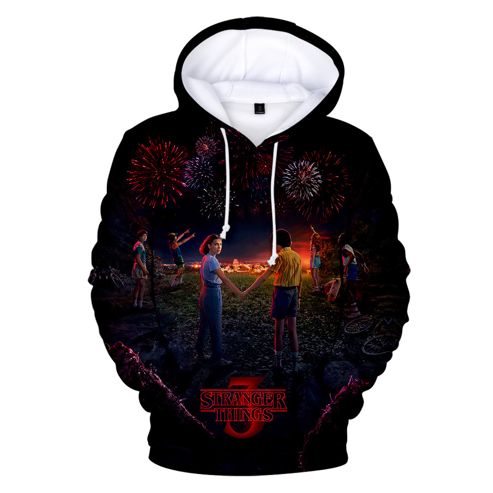 Stranger Things 3D Pullover Hoodie Long Sleeves Casual Sweatshirts