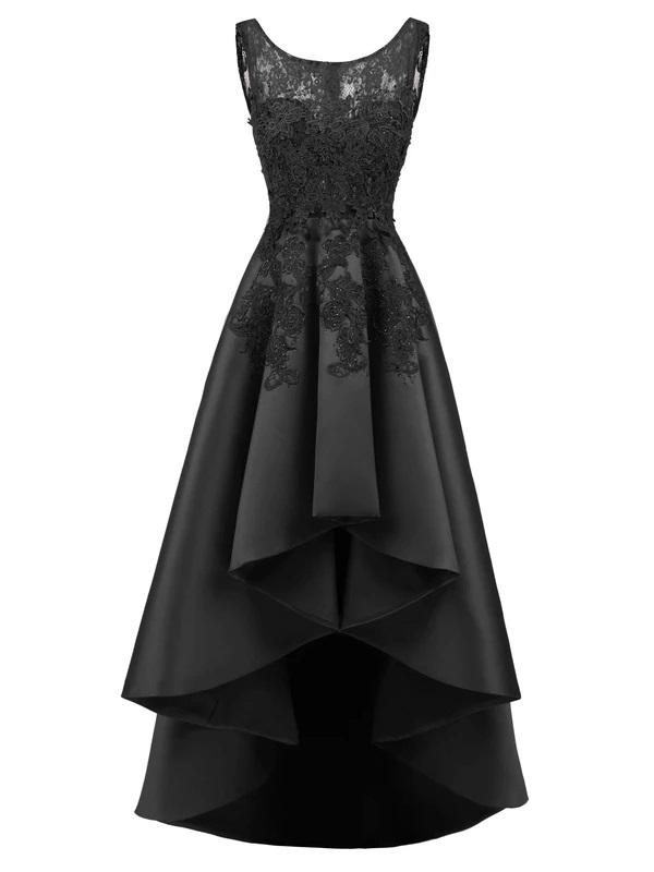 Black Vintage 1950s Lace Hilo Formal Dress