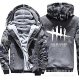 Dead By Daylight Camo Jacket Warm Thicken Hoodie Coat