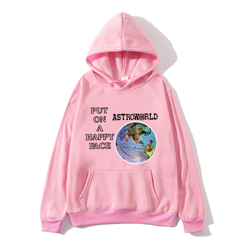 Travis Scott Astroworld Put on A Happy Face Pullover Hoodie