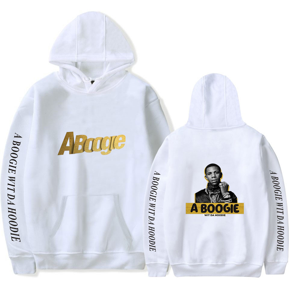 A Boogie Print Hooded Sweatshirt For Fans