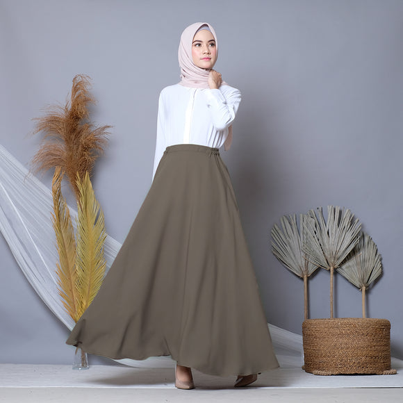 Circle Skirt Lead Gray
