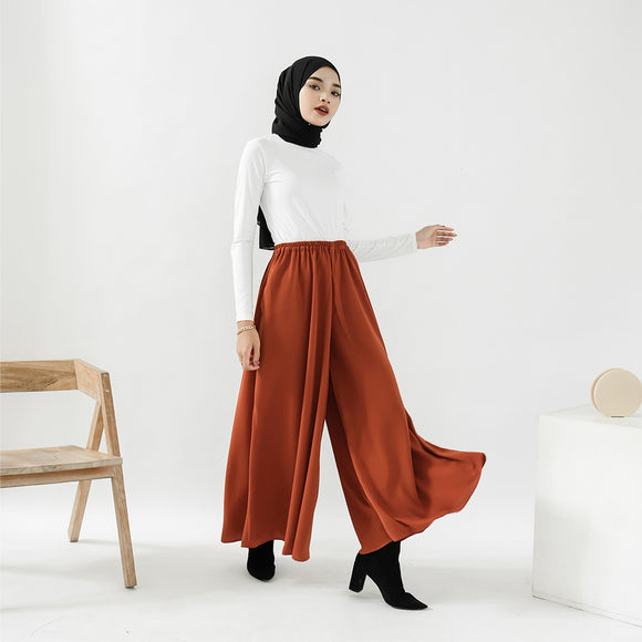 Ivy Wide Pants Terracota