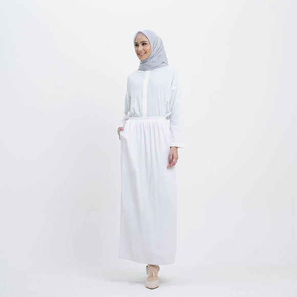 Mide Skirt White