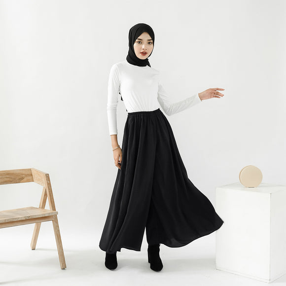 Ivy Wide Pants Black