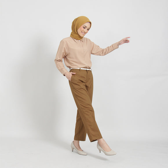 Leta Pants Golden Brown
