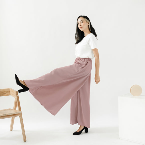 Ivy Wide Pants Dusty Pink