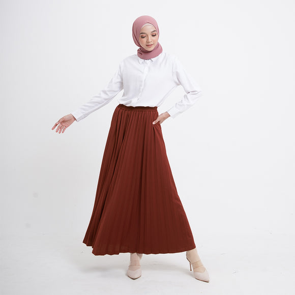 Zia Skirt Red Ochre