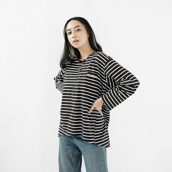 Gana Stripe Black White