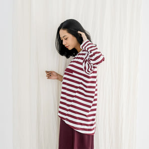 Gana Stripe Big Maroon