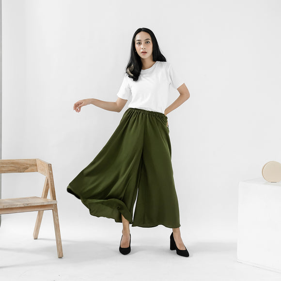 Ivy Wide Pants Army