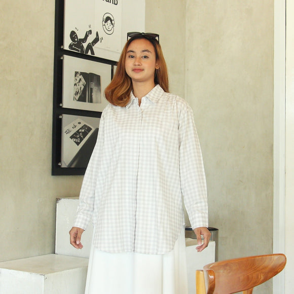 Ganish Shirt - Gingham Misty