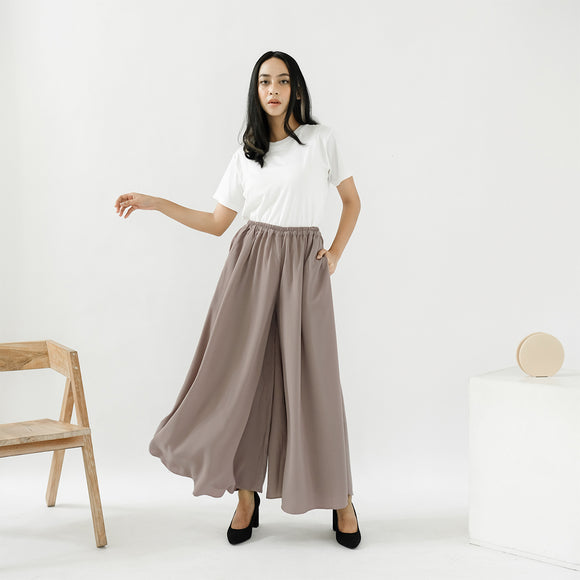 Ivy Wide Pants Taupe