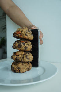 Levain inspired Jumbo Chocolate Chips & Almonds Cookie x 4pcs