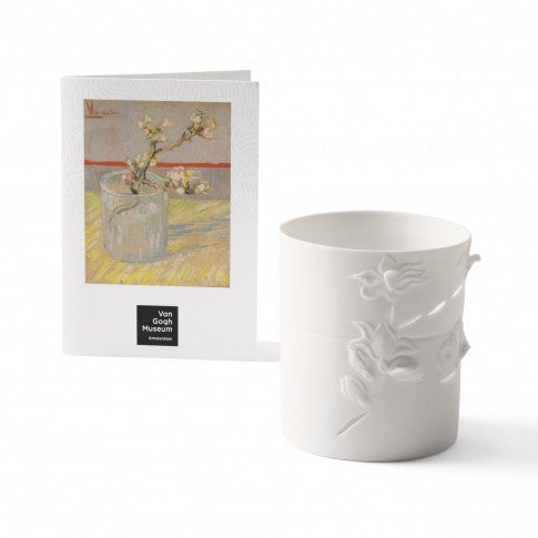 Van Gogh's Sprig of Flowering Almond Candle Holder Gift Box
