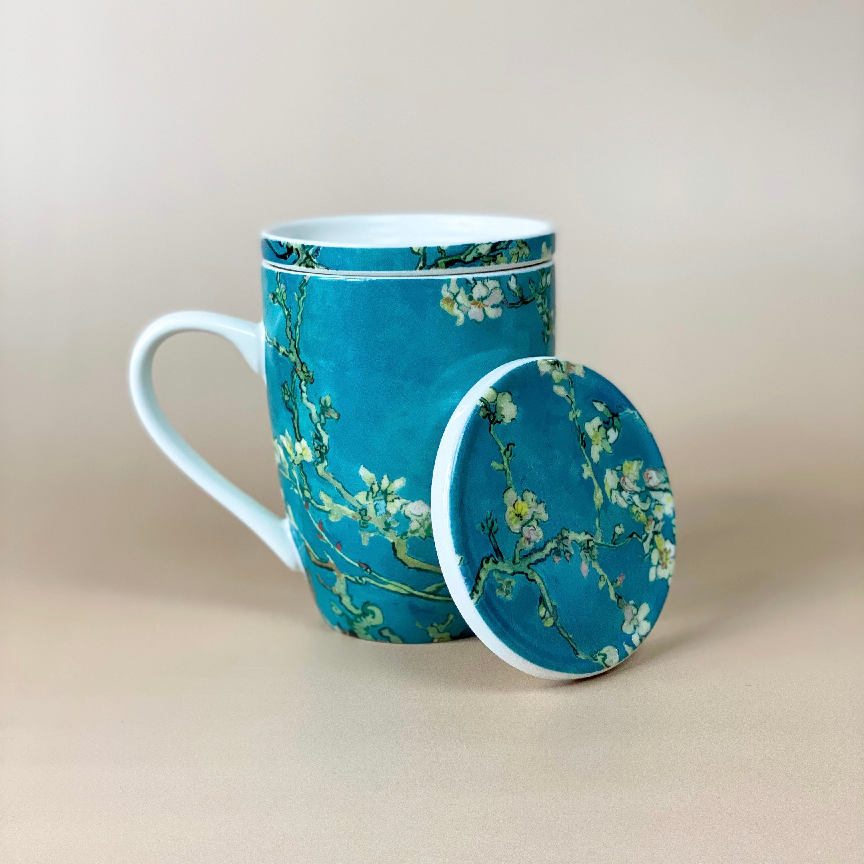 Almond Blossom Mug with Tea Infuser