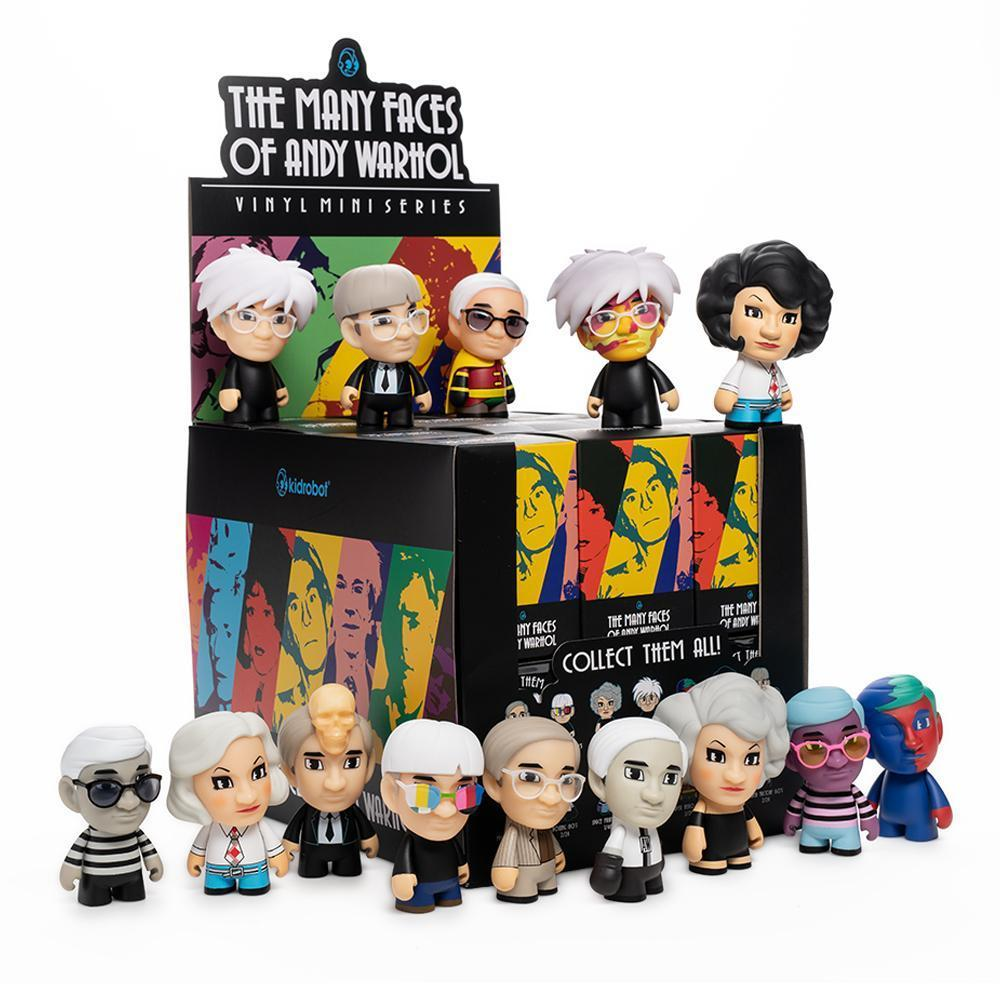Many Faces of Andy Warhol by Kidrobot