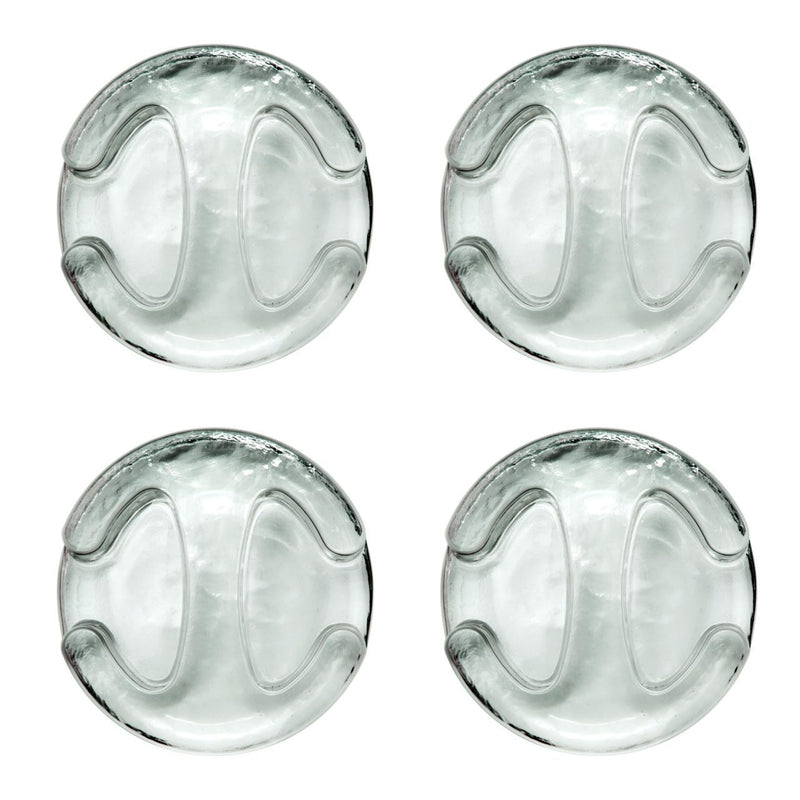 Glass weights with handle (4 pieces) I patented, food safe, unbreakable