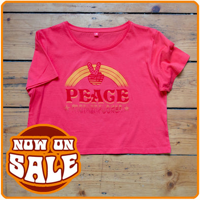 "Crop-Top T-Shirt ""PEACE Motherfucker"" on sale"