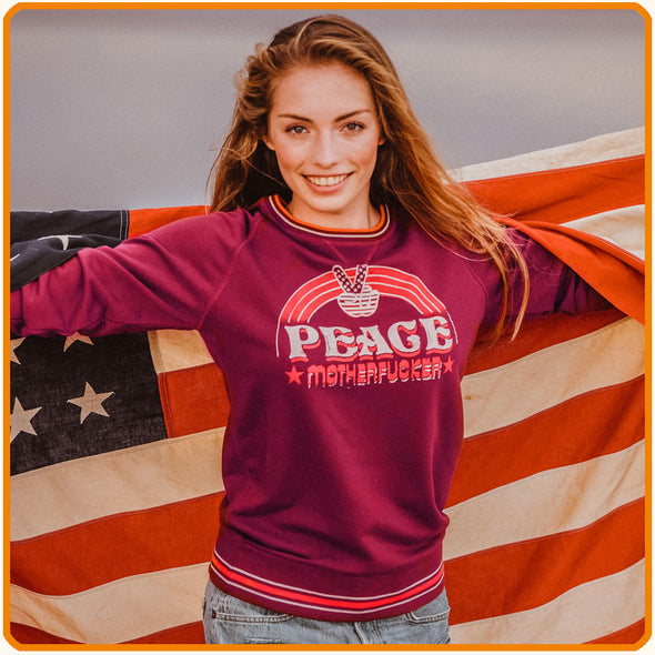 "Sweatshirt ""PEACE Motherfucker'"" on sale"