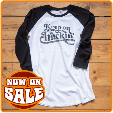"Baseball-T-Shirt ""Keep on Truckin'"" on sale"