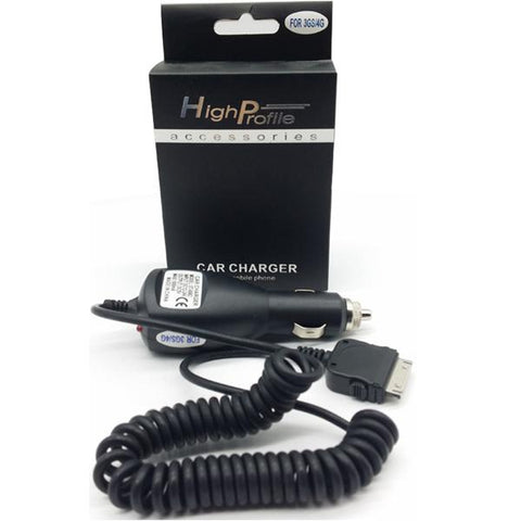 HighProfile 30PIN Coiled In-Car Charger for Apple Devices