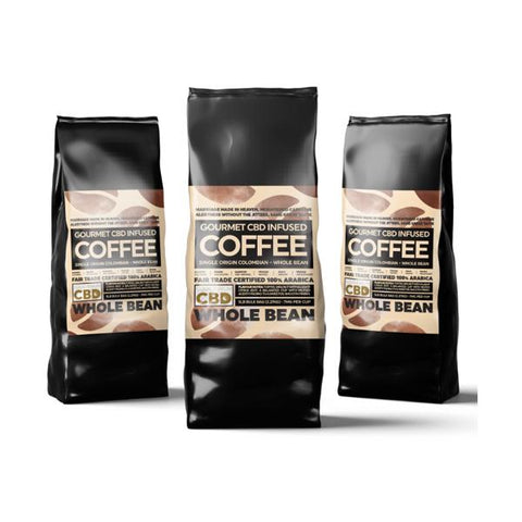 Equilibrium CBD 1000mg Gourmet Whole Bean CBD Coffee Bulk 2.27kg Bag