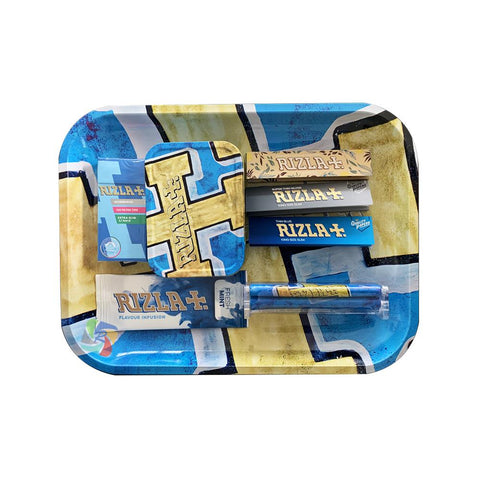 Rizla Medium Metal Rolling Tray Gift Set