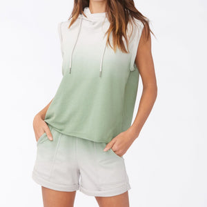 Green Ombre Sleeveless Hoodie