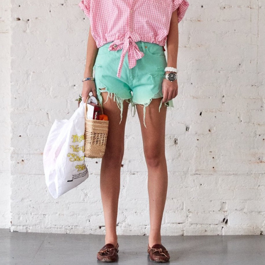 Nic Mid Rise Cutoffs in Mint
