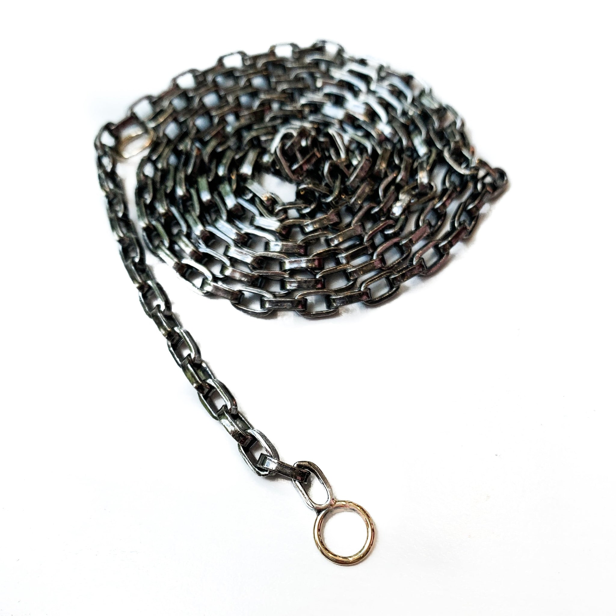 Blackened Silver Biker Chain