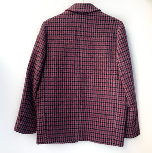 Charly Houdstooth Jacket in Raspberry