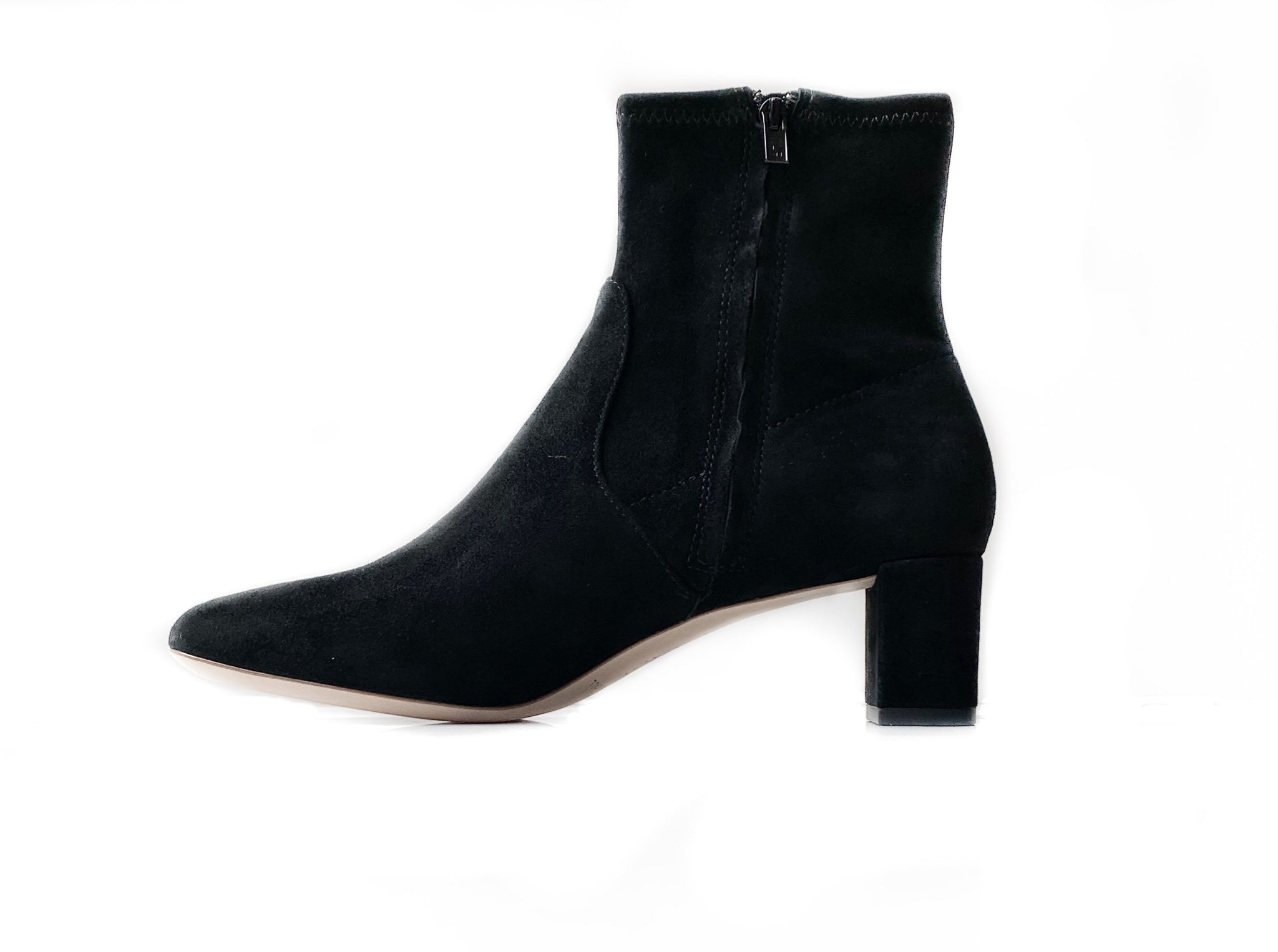 Cynthia Suede Bootie in Black