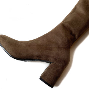 Stretch Suede Boot