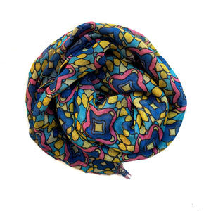 Blue, Pink & Yellow Scarf