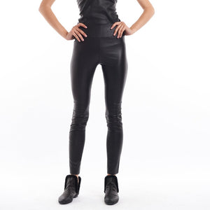 Ankle Length Leather Legging