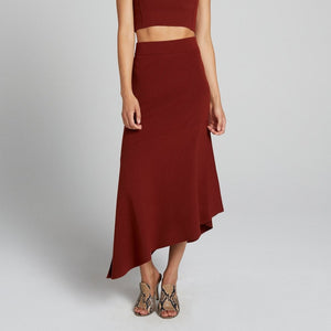 Jasper Knit Skirt in Sumac