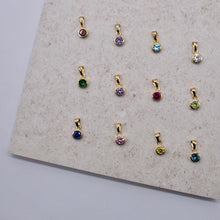 Load image into Gallery viewer, Single Gold Vermeil Birthstone Pendant