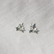 Load image into Gallery viewer, Dainty Star Cluster Stud Earrings in Gold or Silver