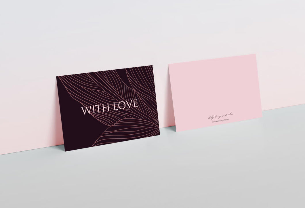 Lily Designs London Note Card - With Love