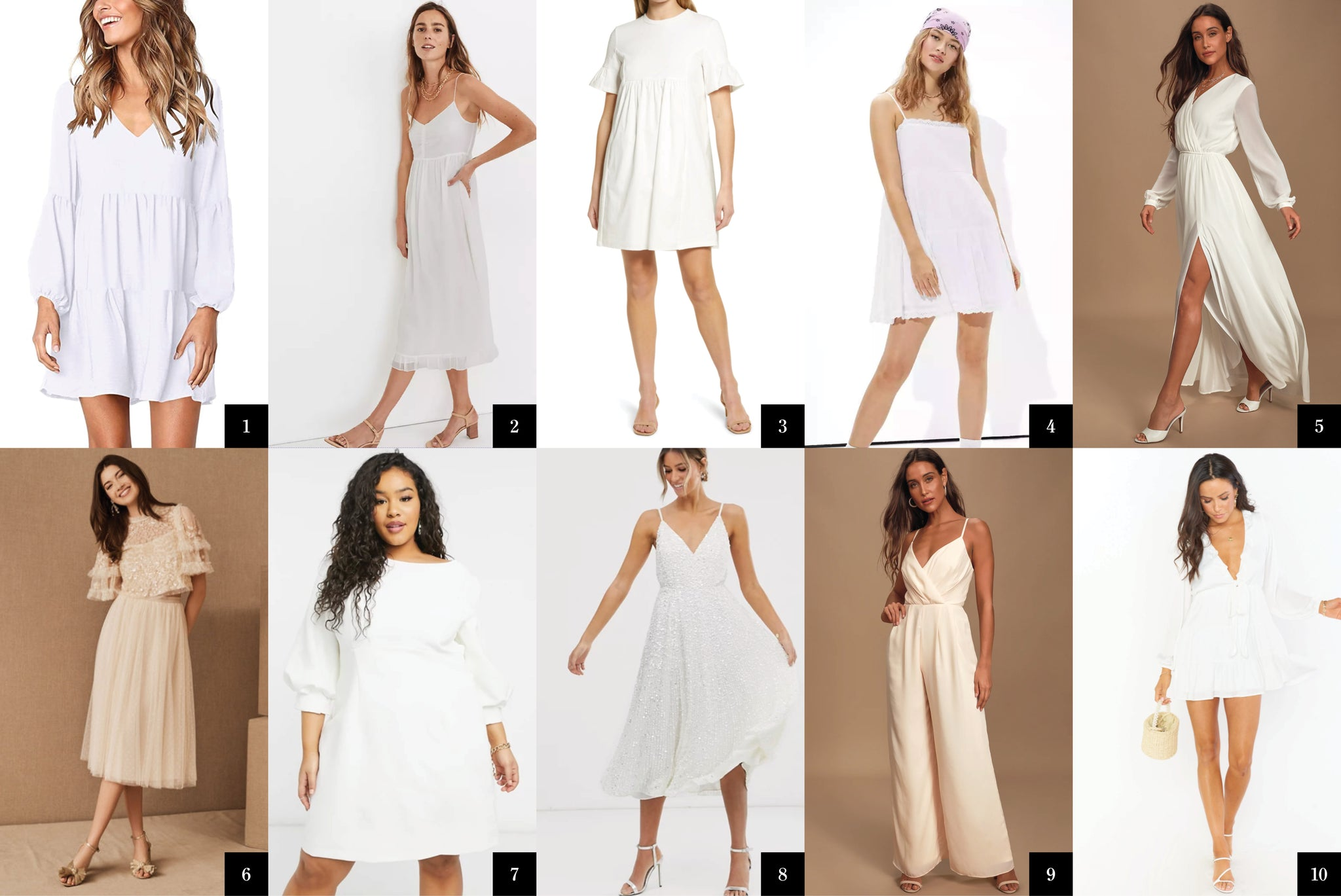 Fashion Roundup: 10 Little White Dresses