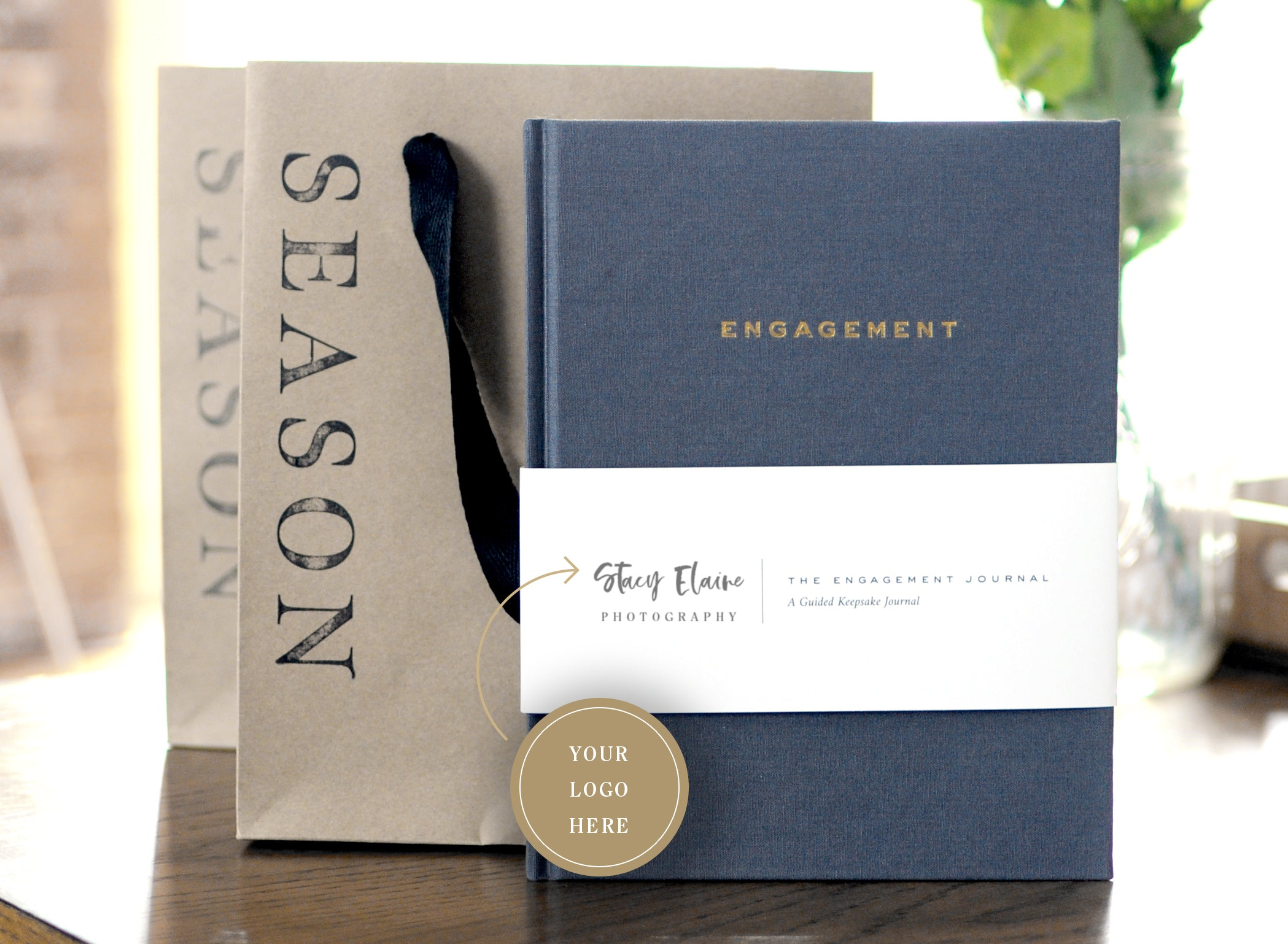 The Engagement Journal with Season gift bag