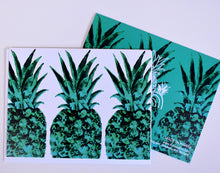 Load image into Gallery viewer, Emerald Pineapple Greeting Card