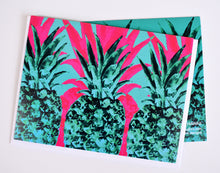 Load image into Gallery viewer, Pink and Green Pineapple Greeting Card