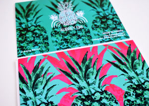 Pink and Green Pineapple Greeting Card