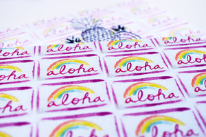Aloha License Plate Greeting Card